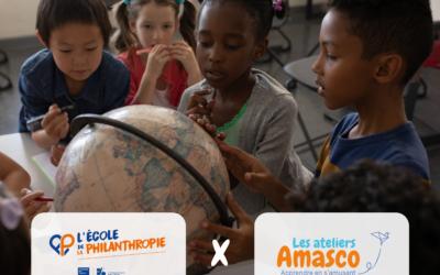 Ateliers Amasco s'associe à l'École de la Philanthropie pour les vacances d'été !